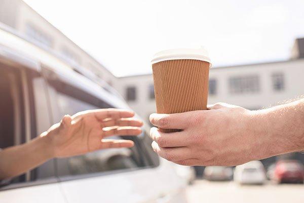 Coffee Shop Drive-Thru – No Parking Solution
